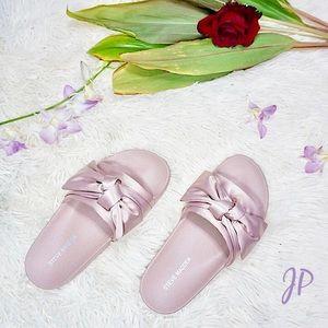 Steve Madden Silky Pink Satin Slippers